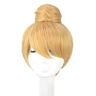 angelaicos naisten prinsessa Tinker Bell söpö tyttö pulla lyhyt blondi updo halloween puku cosplay peruukit