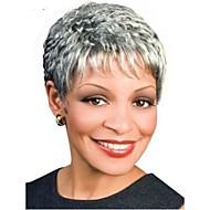 muoti lyhyt kihara naisen synteettiset peruukit hiukset ILMAINENtoimitus harmaa peruukki