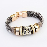 Women's Trend Leopard Alloy Fashion With Rhinestone Bracelet (More Colors)