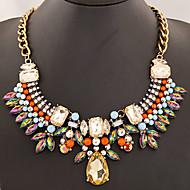 Women's European Style Fashion Trend Wild Shining Imitate Gem Necklace