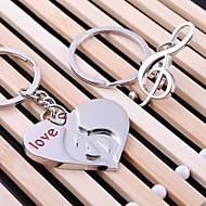 γαμήλια μουσική καρδιά κλειδί μπρελόκ δαχτυλίδι για την ημέρα του εραστή του Αγίου Βαλεντίνου (ζεύγος)