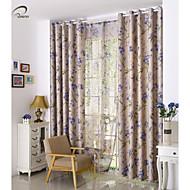 המדינה curtains® וילון האפלת הדפסה בצבע בז 'עלה פנל אחד