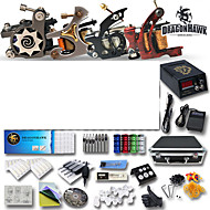 Professional Tattoo Kits 4 Guns Machines And Power Supply