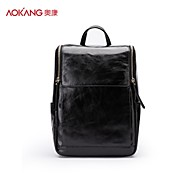 Aokang Men 's Cowhide Saddle Shoulder Bag/Backpack/Sports & Leisure Bag/Travel Bag - Brown/Black