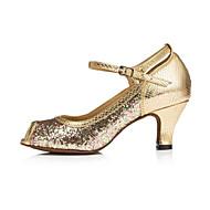 Sapatos de Dança ( Dourado ) - Mulheres - Não Personalizável - Latim