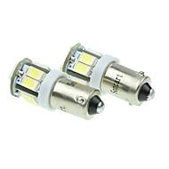 자동차 사이드 램프 2 개 BA9S w6w 5w 11x5630smd 550lm 블루 / 따뜻한 화이트 / 옐로우 / 쿨 화이트 (dc12-16v)