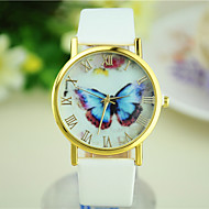 Women's Butterfly New Hot Models Simple Leather Watch