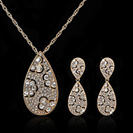 Gorgeous Alloy Rhinestone Wedding Bridal Necklace and Earrings Jewelry Set