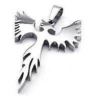 Stainless Steel Phoenix Bird Firebird Pendant Biker Mens Necklace