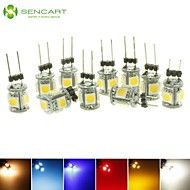 10x G4 GZ4 MR11 1.5W 5 LED 5050 Blue / Red / Warm White / Green / Yellow / White  LED Interior Lights Lamp DC12V