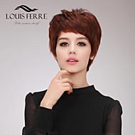 Short Capless Wavy Side Bang Human Hair Wigs
