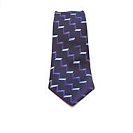 עניבות - פסים (כחול כהה , משי)