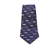 Blue Wavy Lines Jacquard Man Tie