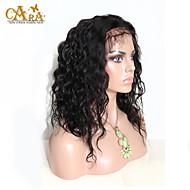 """8 """"-26"""" бразильские волосы девственные естественная волна бесклеевой парик фронта шнурка цвета натуральный черный волос младенца для"""