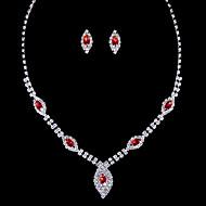 Alloy Wedding/Party Jewelry Set With Diamond/Rhinestone