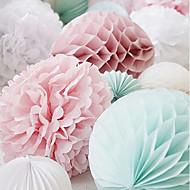 4 piezas de 10 pulgadas (25 cm) bola de la flor de papel de seda de nido de abeja para la decoración del banquete de boda (más colores)