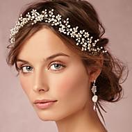 Handmade Women Delicate Pearl Tiaras/Headbands With Wedding/Party Headpiece
