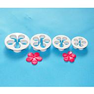 FOUR-C Plastic Daisy Cake Cutter,Fondant Sugarcraft,Cake Decoration Tools Set