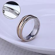 personlig gave unisex ring rustfrit stål indgraveret smykker