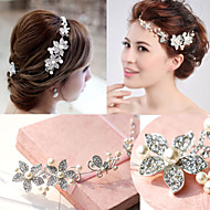 Women Flower Handmade Pearl/Crystal Forehead Jewelry With Crystal for Wedding/Party Headpiece