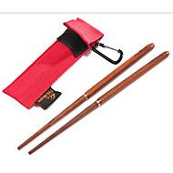 Fire-Maple FMT-807 Outdoor Camping Mahogany Folding Chopsticks Screw Mouth Hook Bag Storage