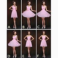 혼합& 경기 드레스 짧은 / 미니 쉬폰 6 스타일의 웨딩 드레스 (2839958)