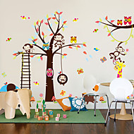 Wall Stickers Wall Decals, Style Owl Monkey Lion Elephant Nursery PVC Wall Stickers