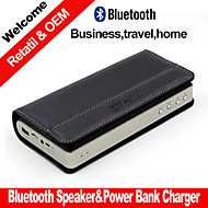 2015Hot Power Bank Charger Business Portable Stereo Bluetooth Speaker Play Mode Bluetooth Micro SD Aux for Smartphone