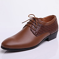 Men's Shoes Leather Wedding / Office & Career / Party & Evening Oxfords Wedding / Office & Career / Party & Evening Lace-upBlack / Brown