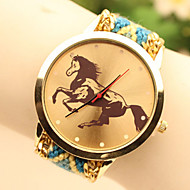Fashion Women's Horse National Weaving South Korea Style Chain DIY Watch Cool Watches Unique Watches