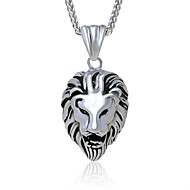 Men's Titanium Personality Lion Head Pendant