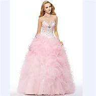 Formal Evening Dress - Candy Pink A-line Sweetheart Floor-length Organza