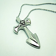 Men's Titanium Cross Swords Pendant