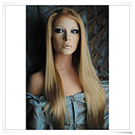 """Blonde 8""""-22"""" 100% Virgin Human Hair Straight Glueless Full Lace/ Lace Front Wigs LWG005 Photo Color #27/613 Length 20"""""""
