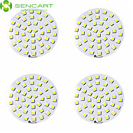 sencart 8W 42 x 5050smd הובילו 650-750lm הוביל אורות תקרה לLED הוביל אביזרי downlight (dc12v 4pcs)