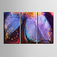 e-HOME® les stromů hodin v plátěných 3ks