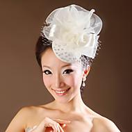 Women Satin/Net Flowers With Wedding/Party Headpiece