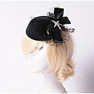 Fleurs/Chapeau Casque Mariage/Occasion spéciale/Outdoor Strass/Tulle/Molleton Femme Mariage/Occasion spéciale/Outdoor 1 Pièce