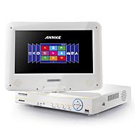 annke® 4 * 960H 10.1 lcd monitor de h.264 HDMI DVR / NVR / hvr tudo em um remoto sistema de visão p2p (sem disco rígido)
