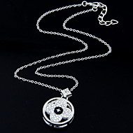 Women's European Style Fashion Sweet Clover Alloy Necklace With Rhinestone