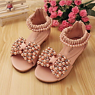 Girls' Shoes Dress Low Heel Comfort Peep Toe Leather Sandals More Colors available