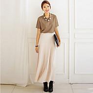 Women's Pink Skirts , Cute/Maxi Maxi