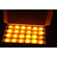 フリッカーフレームレスのちらつき24PCSは、ティーライトキャンドルは結婚式誕生日パーティーの装飾用のバッテリーをLEDライト