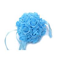 6 Inch Foam Santin Artifiical Kissing Rose Flowers Balls Wedding Bouquet Car Decoration