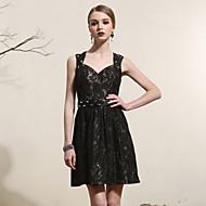 Prom Dress A-line/Princess Queen Anne Short/Mini Satin Dress