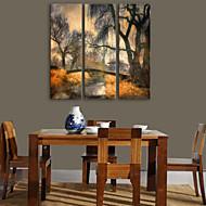 e-Home® Canvastaulu art puu silta koristemaalausta sarja 3