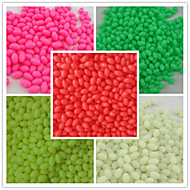 1000pcs/ 3*4mm Fishing Plastic Hard Beads mixed color  Oval Beads Fishing Terminal Tackle Lures