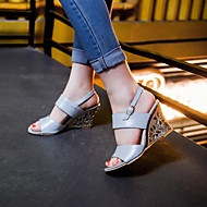Women's Shoes Wedge Heel Wedges Sandals Office & Career/Dress Blue/Silver/Beige