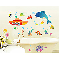 Wall Stickers Wall Decals, Cartoon Underwater World PVC Wall Stickers
