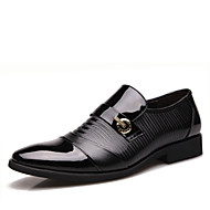 Men's Shoes Outdoor/Casual Leather Loafers Black/Brown